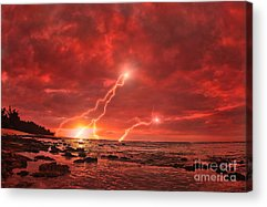 Lightning Strike Acrylic Prints