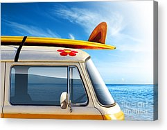 Blue Car Acrylic Prints