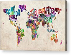 Cartography Acrylic Prints