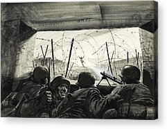 Second Day Of Battle Acrylic Prints