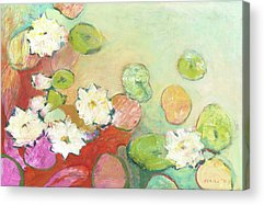 Lilly Pond Paintings Acrylic Prints