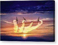Aerobatics Acrylic Prints