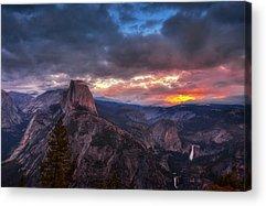Yosemite Half Dome Acrylic Prints