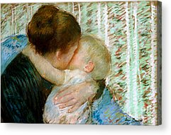 Caring Mother Paintings Acrylic Prints