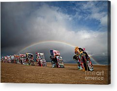 Cadillac Ranch Acrylic Prints