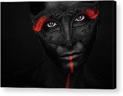 Face Paint Acrylic Prints