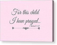 Pray For Love Acrylic Prints