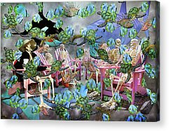 Talking Mixed Media Acrylic Prints