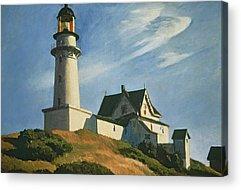 Maine Lighthouses Paintings Acrylic Prints