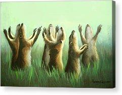 Praising Prairie Dogs Acrylic Prints