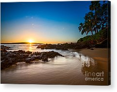 Maui Sunset Acrylic Prints