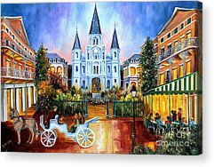 New Orleans Oil Paintings Acrylic Prints