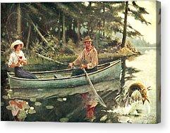 Canoe Acrylic Prints