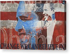 Obama Mixed Media Acrylic Prints