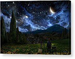Outer Space Digital Art Acrylic Prints
