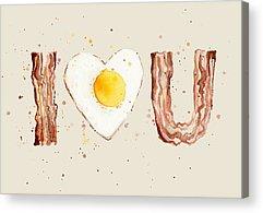 Bacon Acrylic Prints