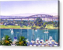 Bay Bridge Paintings Acrylic Prints