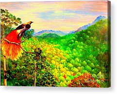 Mangrove Forest Paintings Acrylic Prints