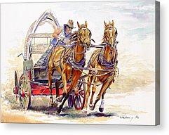 Wild Racers Paintings Acrylic Prints