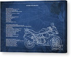 Technical Illustration Drawings Acrylic Prints