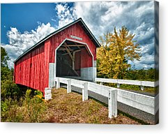 Covered Bridge Acrylic Prints
