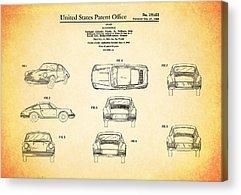 Car Blueprint Acrylic Prints