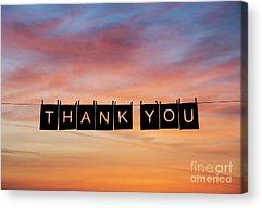 Thanks Acrylic Prints