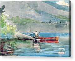 Canoeist Acrylic Prints