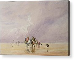 Beach Landscape Drawings Acrylic Prints