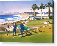 Surfing Acrylic Prints