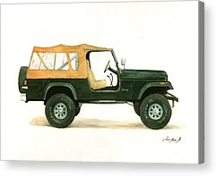 Jeep Acrylic Prints