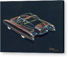 Futuristic Drawings Acrylic Prints