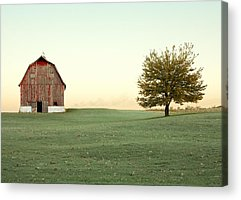 Old Red Barn Acrylic Prints