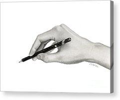 Self-portrait Drawings Acrylic Prints