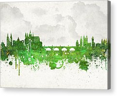 Prague Castle Digital Art Acrylic Prints