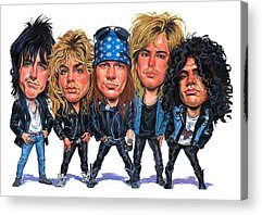 Axl Rose Paintings Acrylic Prints