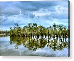 Indiana Flooding Acrylic Prints