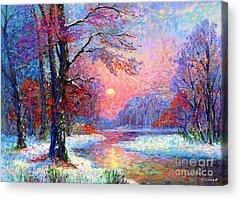 Snowy Scene Acrylic Prints