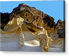 Holes In Sandstone Acrylic Prints