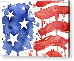 Patriotic Paintings Acrylic Prints
