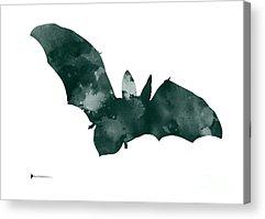 Bat Mixed Media Acrylic Prints