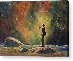 Fishing Enthusiast Acrylic Prints