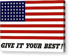 United States Propaganda Digital Art Acrylic Prints