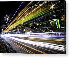Long Street Digital Art Acrylic Prints