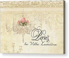 Plaster Of Paris Mixed Media Acrylic Prints