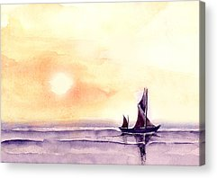 Colorful Boats Acrylic Prints