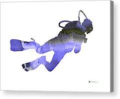 Scuba Diving Acrylic Prints