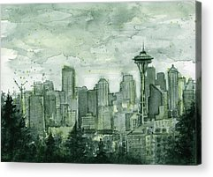 Seattle Skyline Acrylic Prints