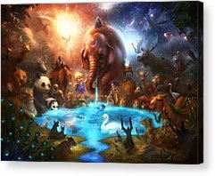 Heaven Digital Art Acrylic Prints