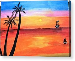 Color Paintings Acrylic Prints